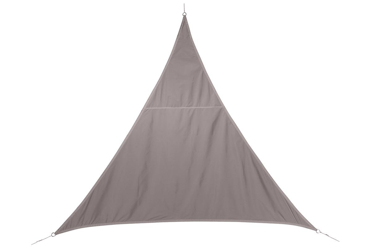 VOILE D'OMBRAGE TRIANGULAIRE CURACAO TAUPE