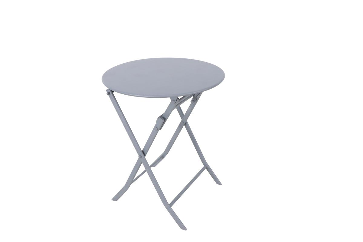 TABLE DE JARDIN PLIANTE RONDE GREENSBORO GRIS QUARTZ