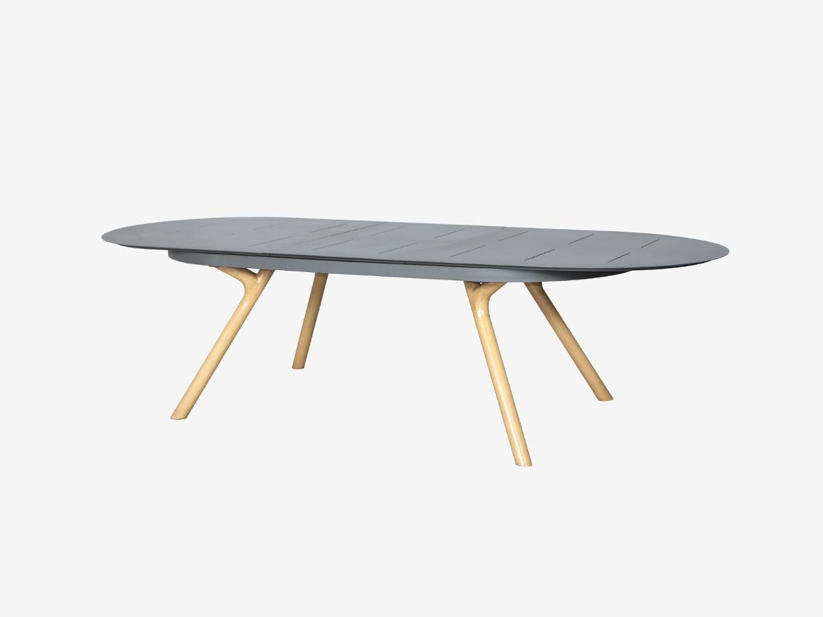 TABLE RUBBY EXT OVALE 10P GRA
