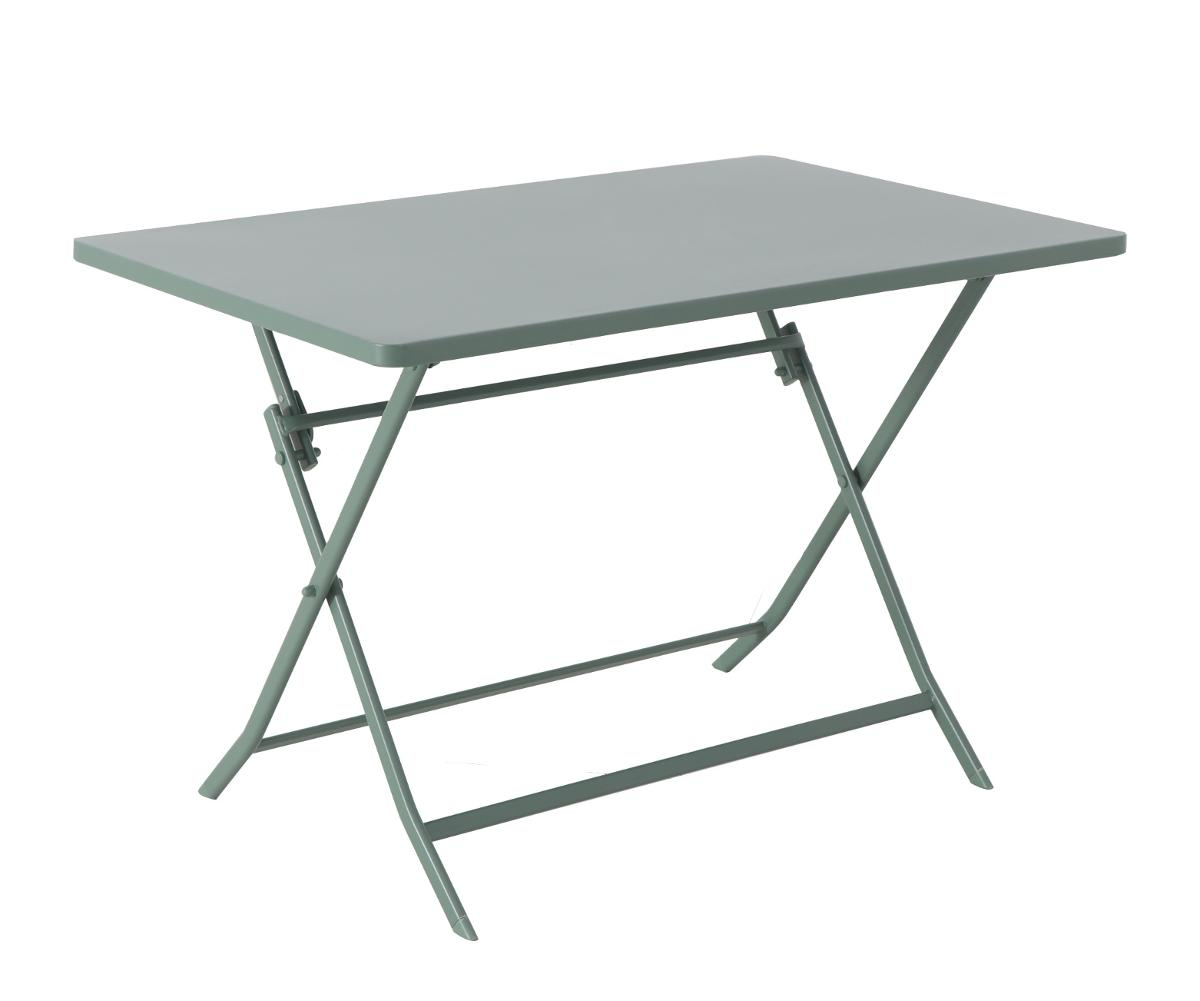 TABLE DE JARDIN PLIANTE RECTANGULAIRE GREENSBORO VERT OLIVE